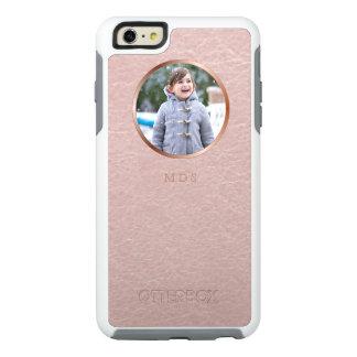 Monograma rosado de la carga por teletratamiento funda otterbox para iPhone 6/6s plus