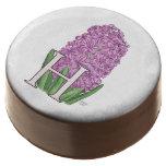 Monograma rosado de la flora del jacinto
