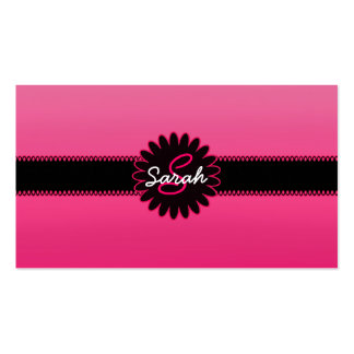 Monograma rosado de la pendiente tarjetas de visita