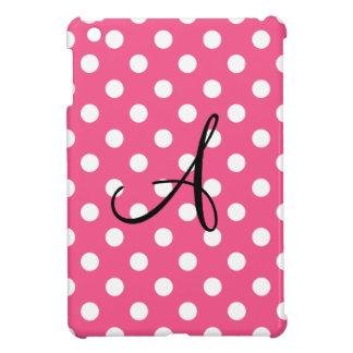 Monograma rosado de los lunares iPad mini coberturas