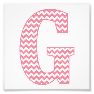 Monograma rosado de muy buen gusto clásico de G de Fotografía