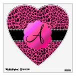 Monograma rosado del leopardo