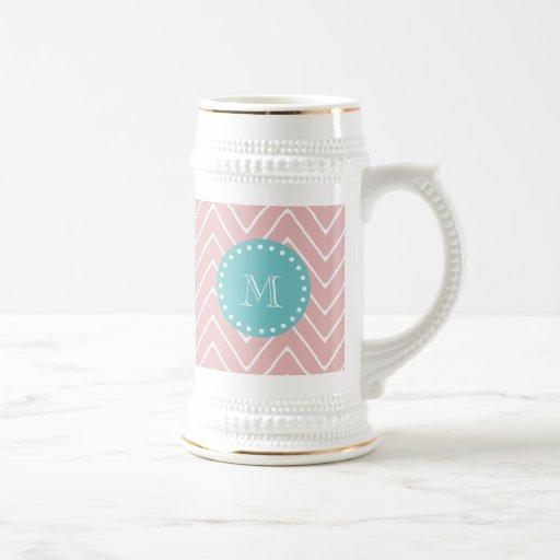 Monograma rosado del trullo del modelo el | de Che Taza De Café