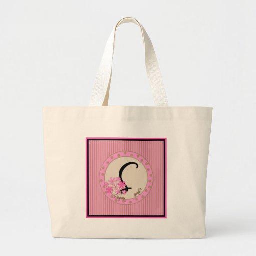 Monograma rosado femenino (20) bolsa