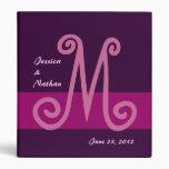 Monograma rosado fucsia del planificador del boda