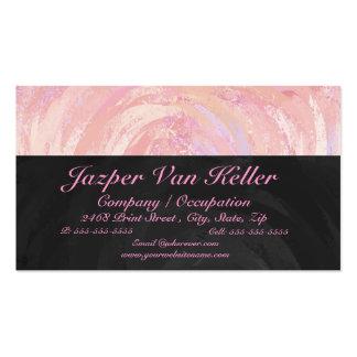 Monograma rosado y negro tarjetas de visita