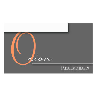 Monograma simple de la tarjeta de visita del encar