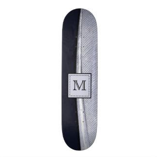 Monograma sofisticado de la pluma de la marina de  patines