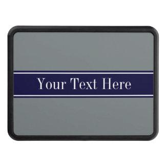 Monograma sólido del nombre de la cinta de azules tapas de remolque