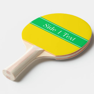 Monograma sólido del nombre de la cinta del verde pala de ping pong