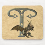 Monograma T de los Gargoyles Alfombrilla De Raton