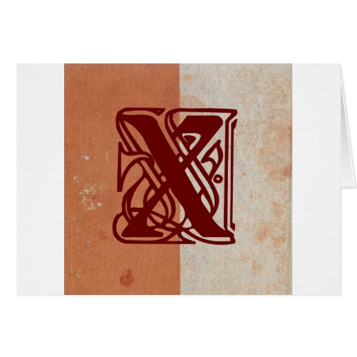 monograma tarjeta de felicitación