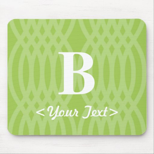 Monograma tejido adornado - letra B Mouse Pads