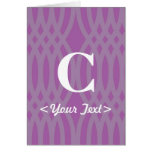 Monograma tejido adornado - letra C Felicitación