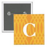 Monograma tejido adornado - letra C Pin