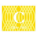 Monograma tejido adornado - letra C Tarjetas Postales