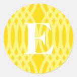 Monograma tejido adornado - letra E Etiqueta