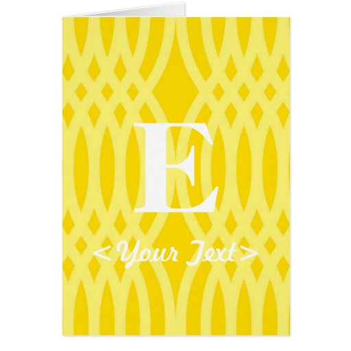 Monograma tejido adornado - letra E Felicitación