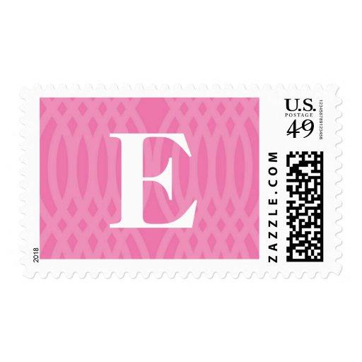 Monograma tejido adornado - letra E Franqueo