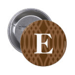 Monograma tejido adornado - letra E Pin