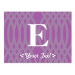 Monograma tejido adornado - letra E Tarjeta Postal