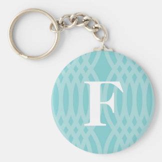 Monograma tejido adornado - letra F Llaveros Personalizados