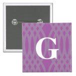Monograma tejido adornado - letra G Pins
