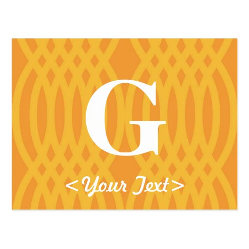 Monograma tejido adornado - letra G Postal