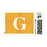 Monograma tejido adornado - letra G Sellos