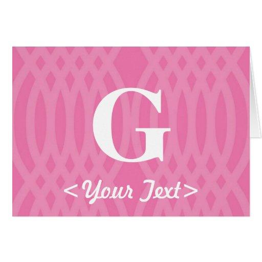 Monograma tejido adornado - letra G Tarjeta De Felicitación