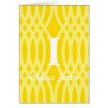 Monograma tejido adornado - letra I Felicitaciones