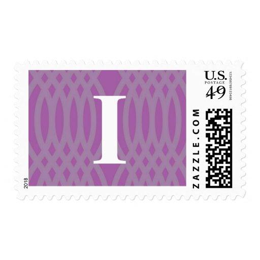Monograma tejido adornado - letra I Timbre Postal