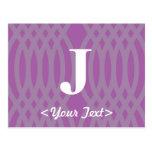 Monograma tejido adornado - letra J Tarjetas Postales