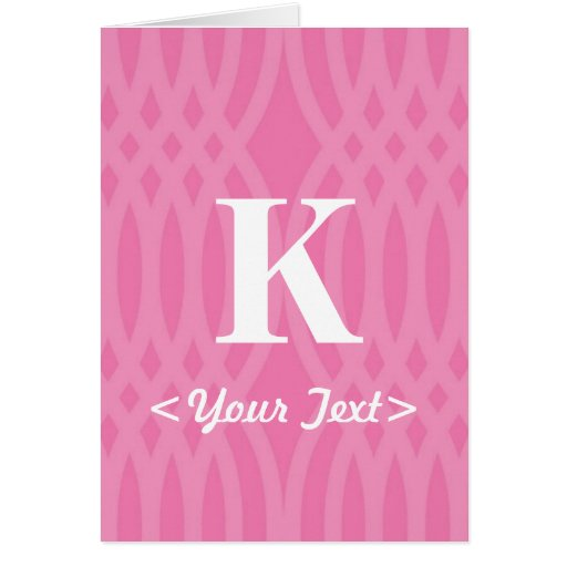 Monograma tejido adornado - letra K Felicitación