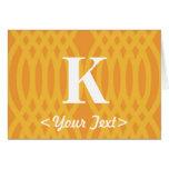 Monograma tejido adornado - letra K Felicitacion