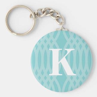Monograma tejido adornado - letra K Llaveros Personalizados