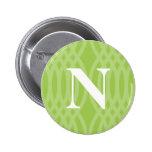 Monograma tejido adornado - letra N Pin