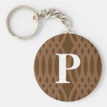 Monograma tejido adornado - letra P Llaveros Personalizados