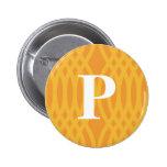 Monograma tejido adornado - letra P Pins