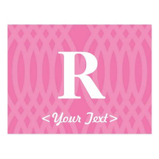 Monograma tejido adornado - letra R Postales