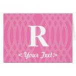 Monograma tejido adornado - letra R Tarjeta