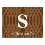 Monograma tejido adornado - letra S Postal