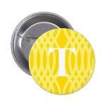 Monograma tejido adornado - letra T Pins