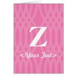 Monograma tejido adornado - letra Z Felicitación