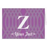 Monograma tejido adornado - letra Z Felicitaciones