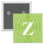 Monograma tejido adornado - letra Z Pin
