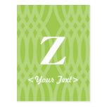 Monograma tejido adornado - letra Z Postal