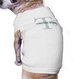Monograma tibetano de la raza del perro de aguas camiseta de mascota