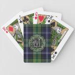 Monograma tradicional de la tela escocesa de tartá barajas de cartas