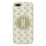 Monograma tribal del brillo del oro de las flechas iPhone 5 cárcasa